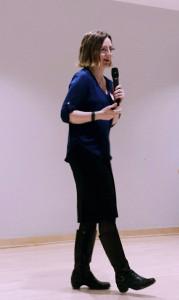 Laura Christenson talking at World IA Day 2016